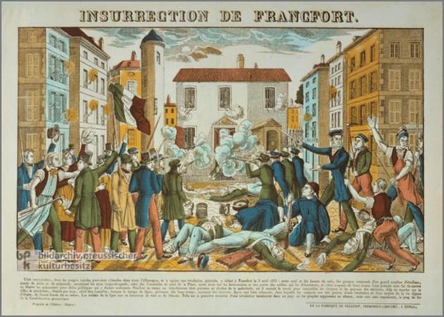 Sturm auf eine Frankfurter Wache 1833